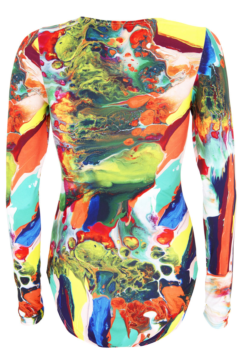Margate Body Suit in Magma print / SOLD OUT - product images  of