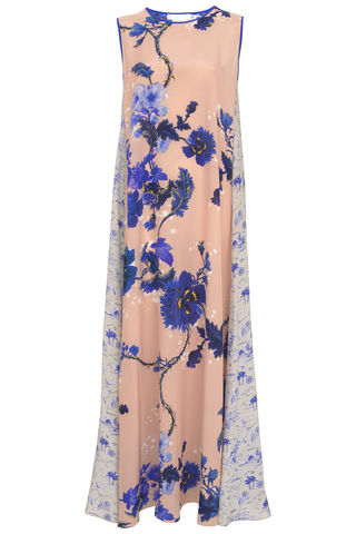 Patti,Dress,in,Gothic,floral,and,Polynesia,print