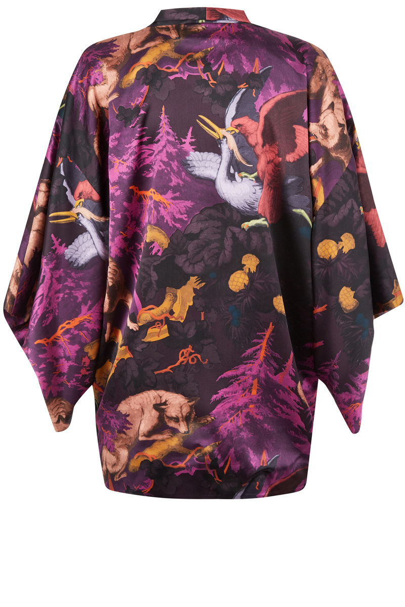 Kimono Białowieża Forest Forest (Deep Mauve) Print - product images  of