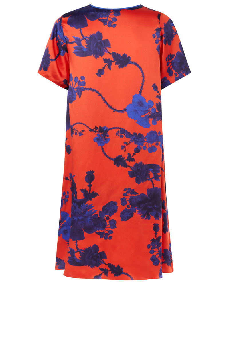 Frieda Dress in Gothic Floral (tomato) print - product images  of