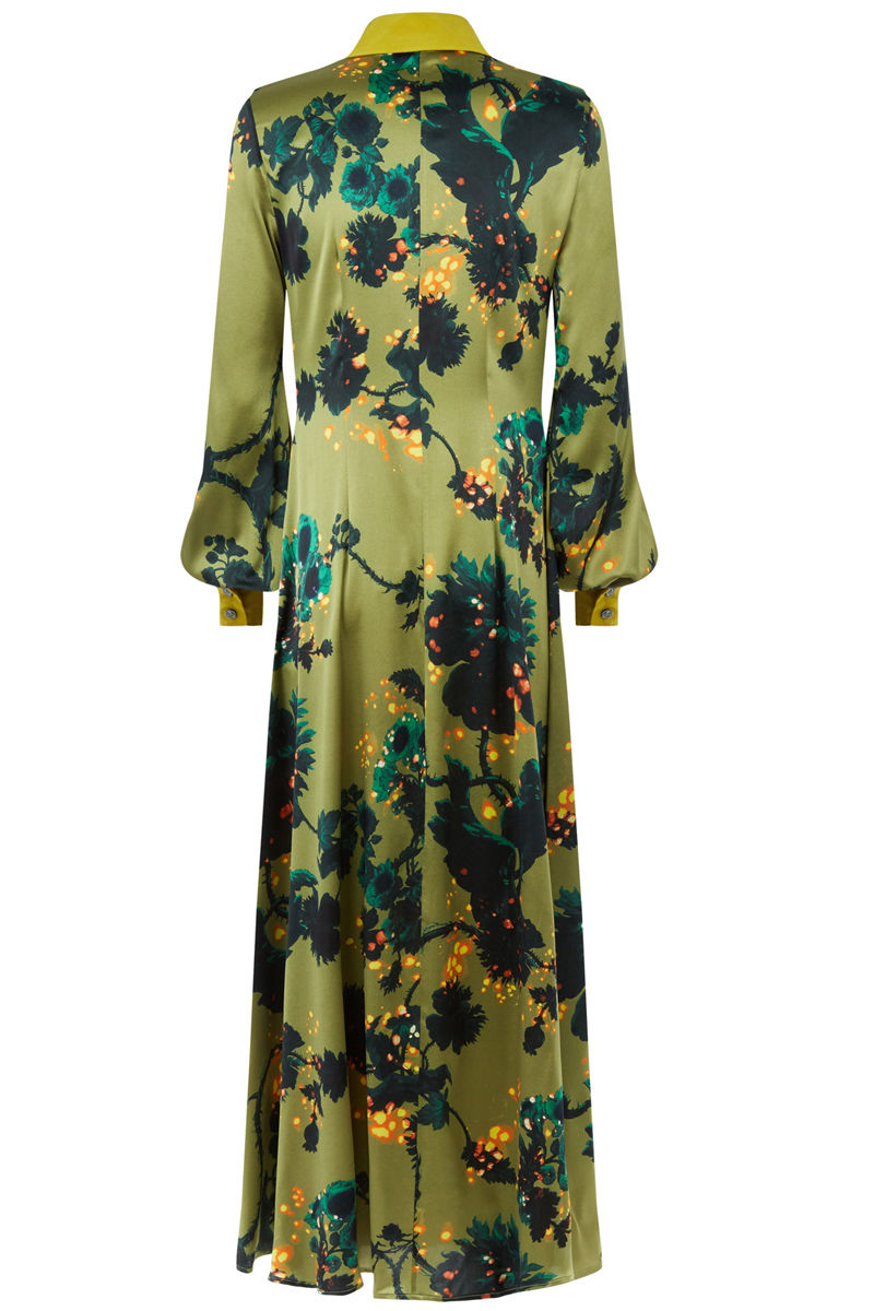 Warsaw dress in Gothic Floral (ochre) - product images  of