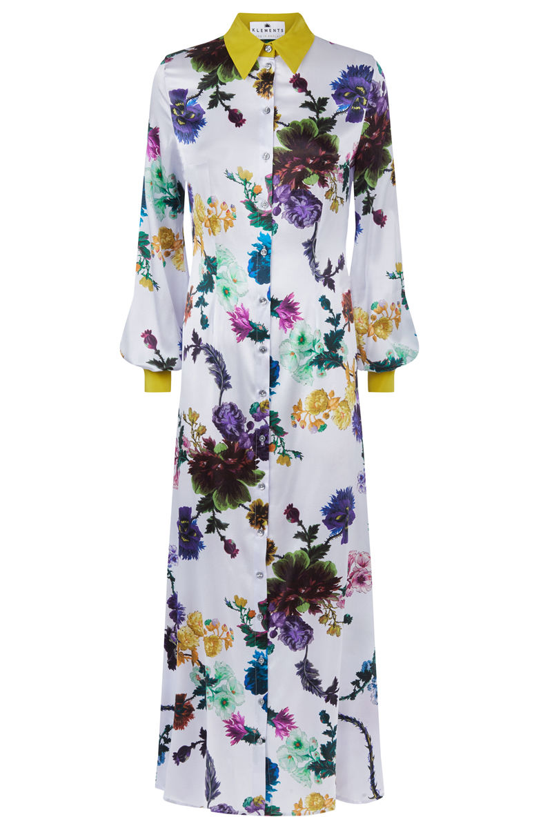 Warsaw dress in Gothic Floral (iced lilac) - product images  of