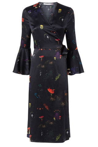 Netil,Wrap,Dress,in,Kosmos,Print