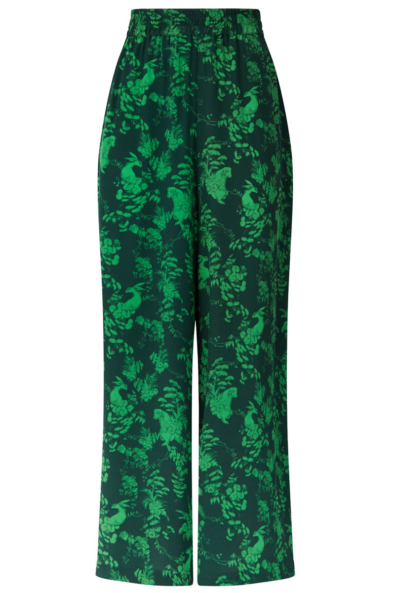 Pluto Pants in Garden Puppets Print (green) - product image