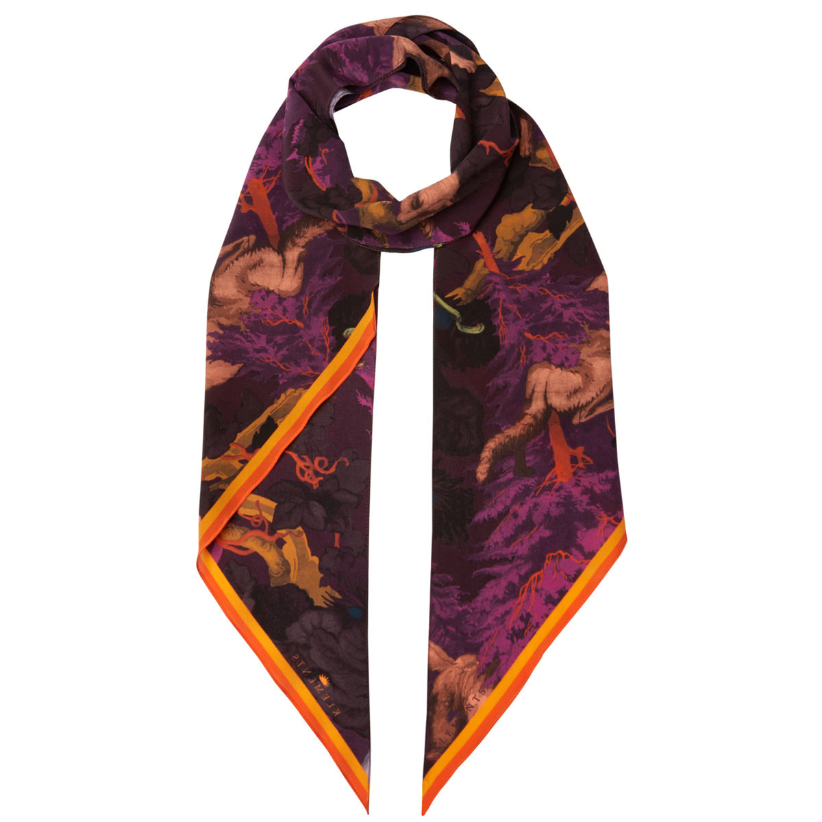 Razor scarf in Białowieża Forest Deep Mauve - product images  of