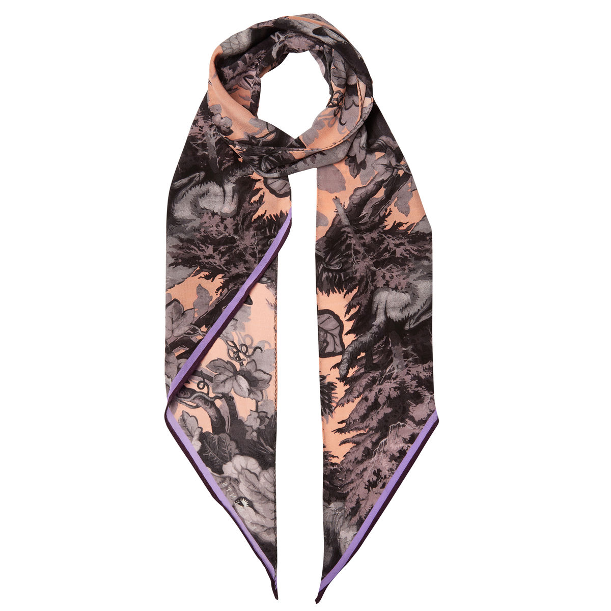 Razor scarf in Białowieża Forest Iced Lilac print - product images  of