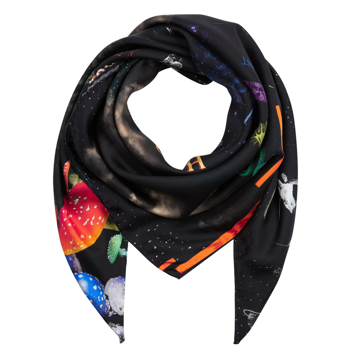 Medium scarf in Kosmos print - product images  of