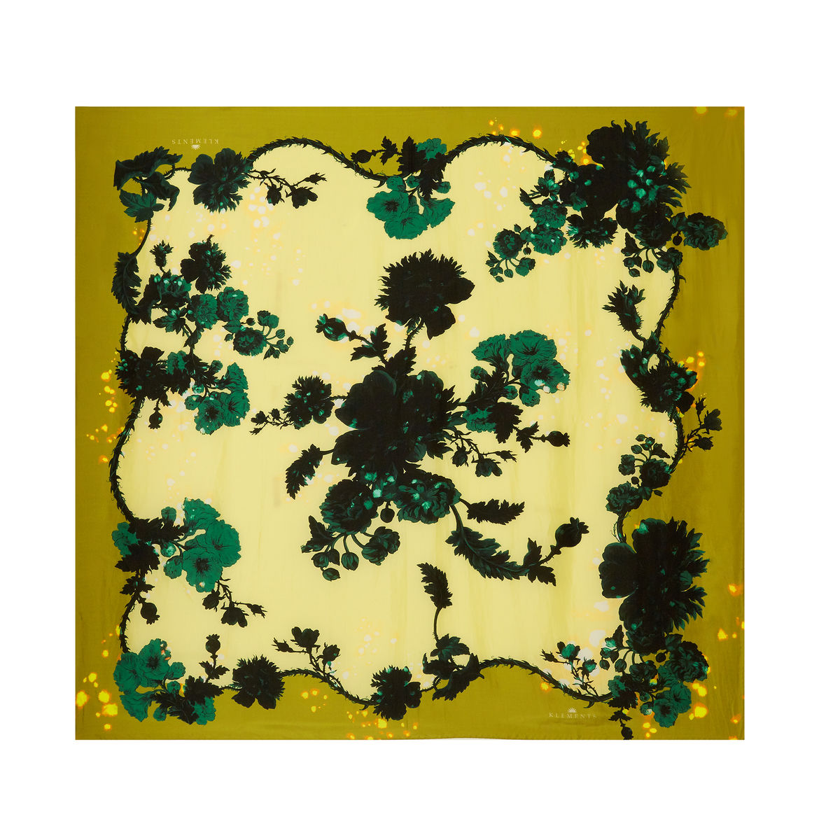 Medium scarf in Gothic Floral Ochre print - product images  of