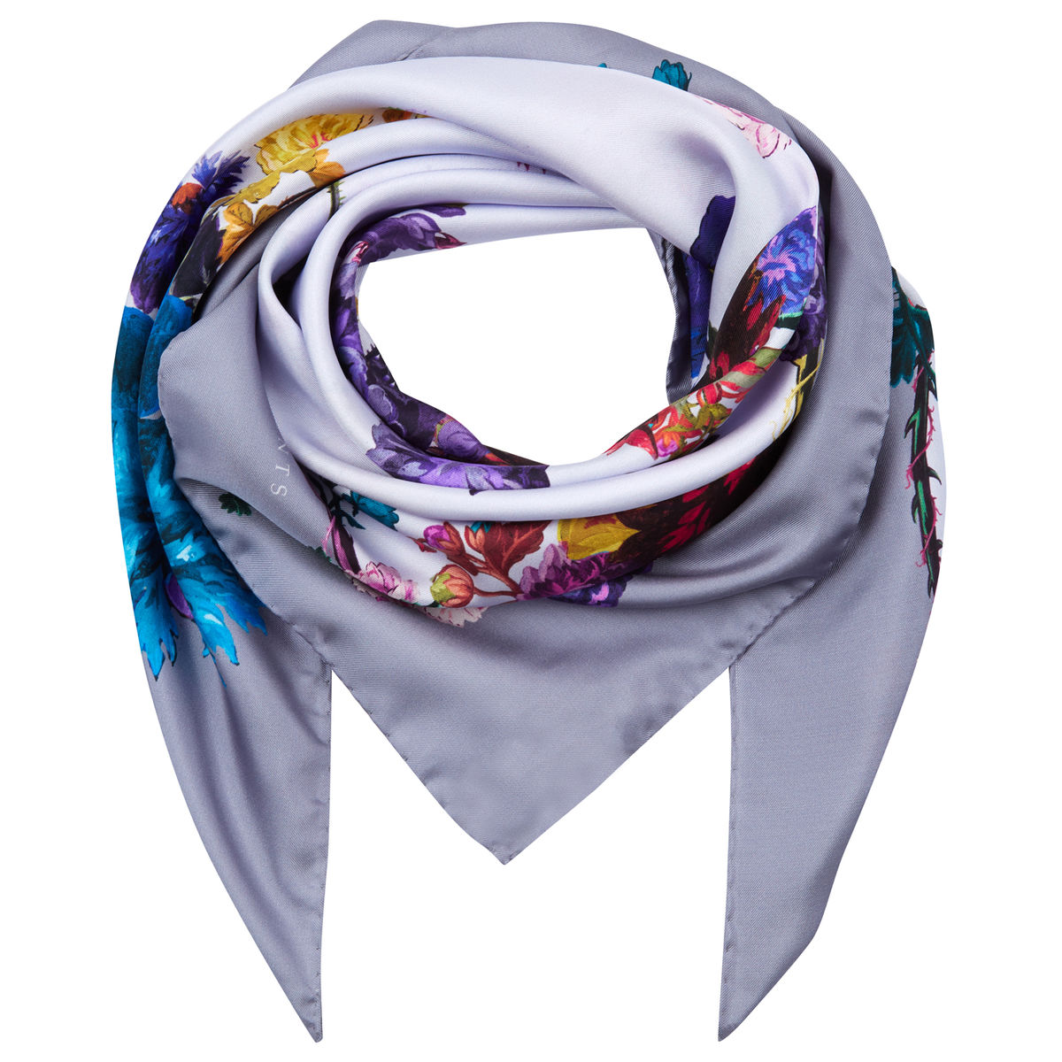 Medium scarf in Gothic Floral Iced Lilac print - product images  of