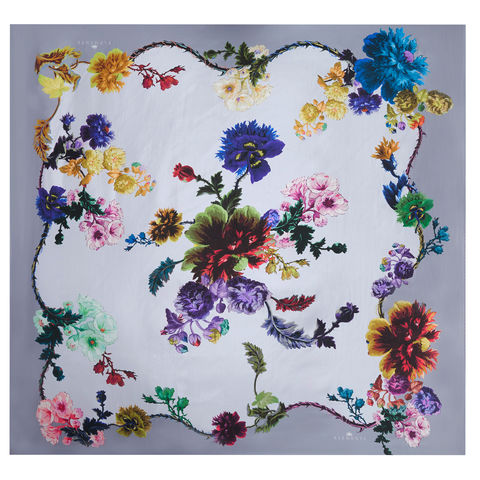 Large,scarf,in,Gothic,Floral,Iced,Lilac,print