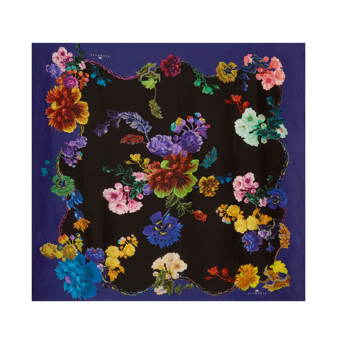 Medium scarf in Gothic Floral Black Base / Rainbows print - product images  of