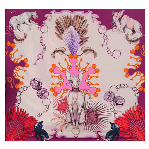 Large,scarf,in,Sphynx,print
