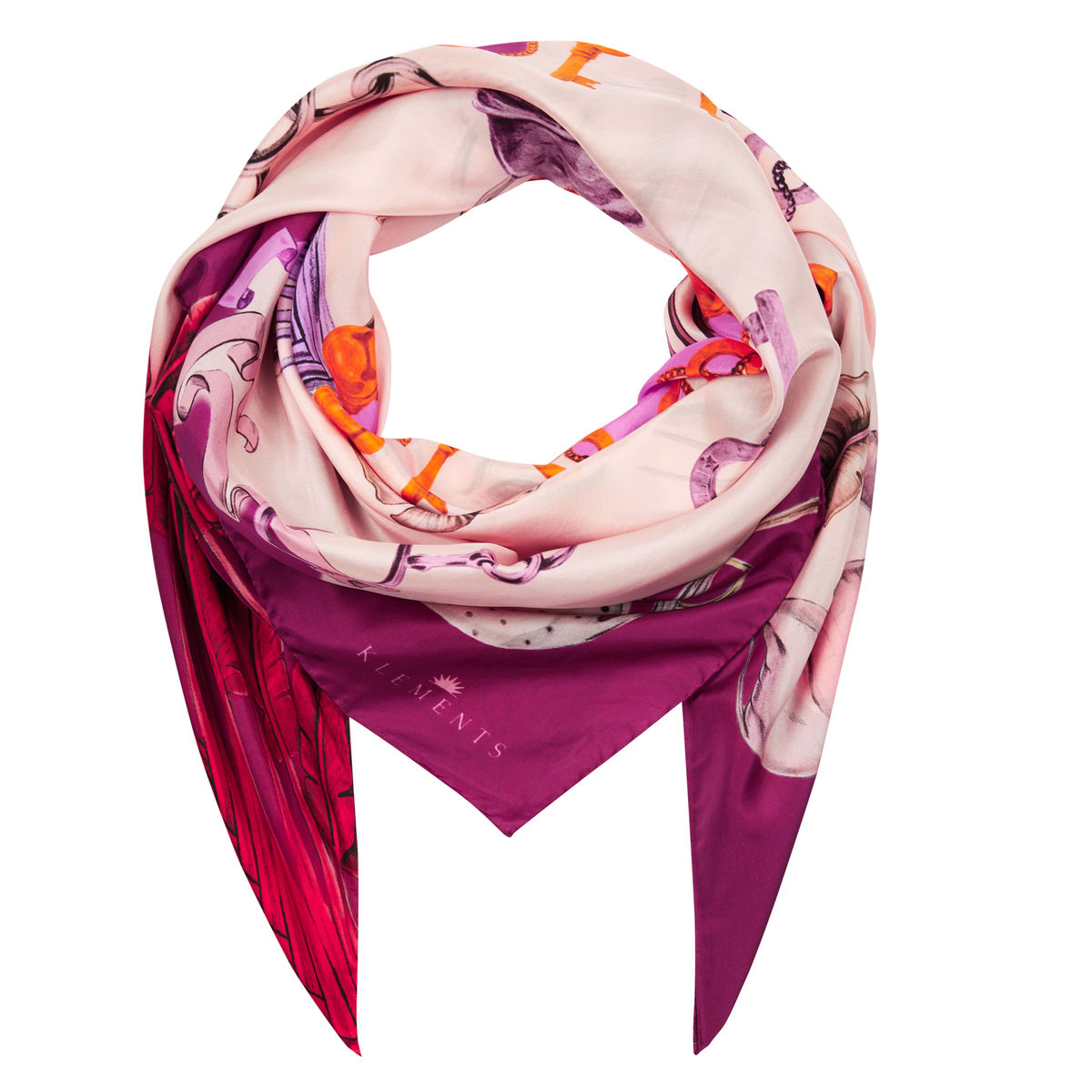 Large scarf in Sphynx print - product images  of