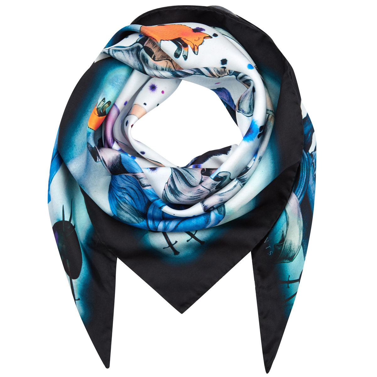 Medium scarf in Mega Fauna print - product images  of