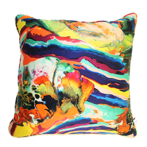 Silk,Satin,Large,Cushion,,Magma,print,,60,x,cm,luxury printed cushion