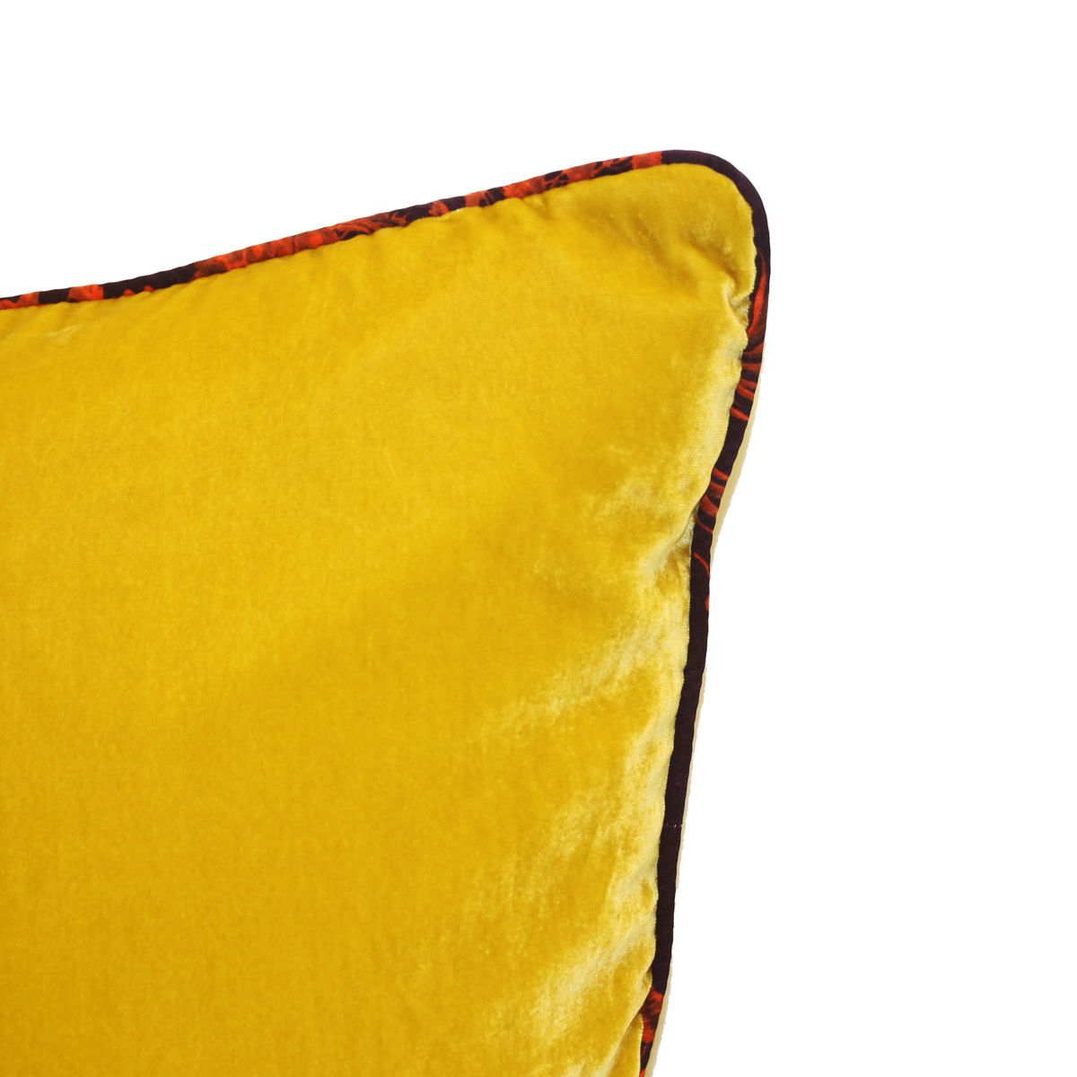 Sulphur silk velvet large cushion 60 x 60 cm - product images  of