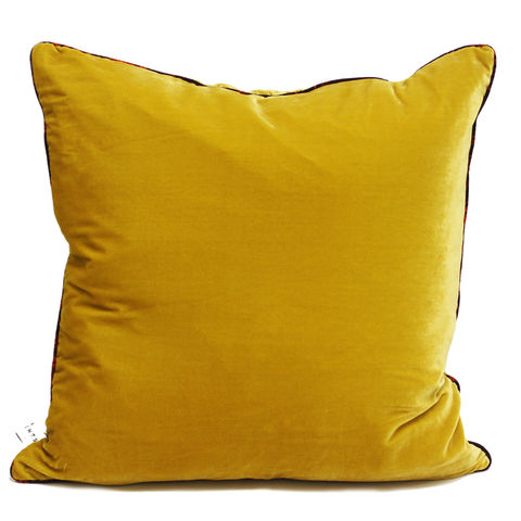 Sulphur,silk,velvet,large,cushion,60,x,cm,luxury printed cushion