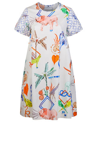 Frieda,Dress,Jungle,Sketchbook,Print,/,Cotton,shift dress wedding guest dress