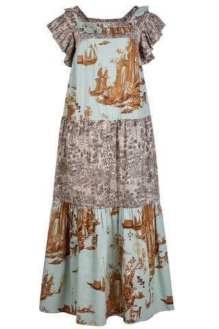 Laura,Prairie,Dress,in,Cursed,civilisation,/,abandoned,village,print,mix,prairie_peasant_dress_70s_tiered_print_mix_