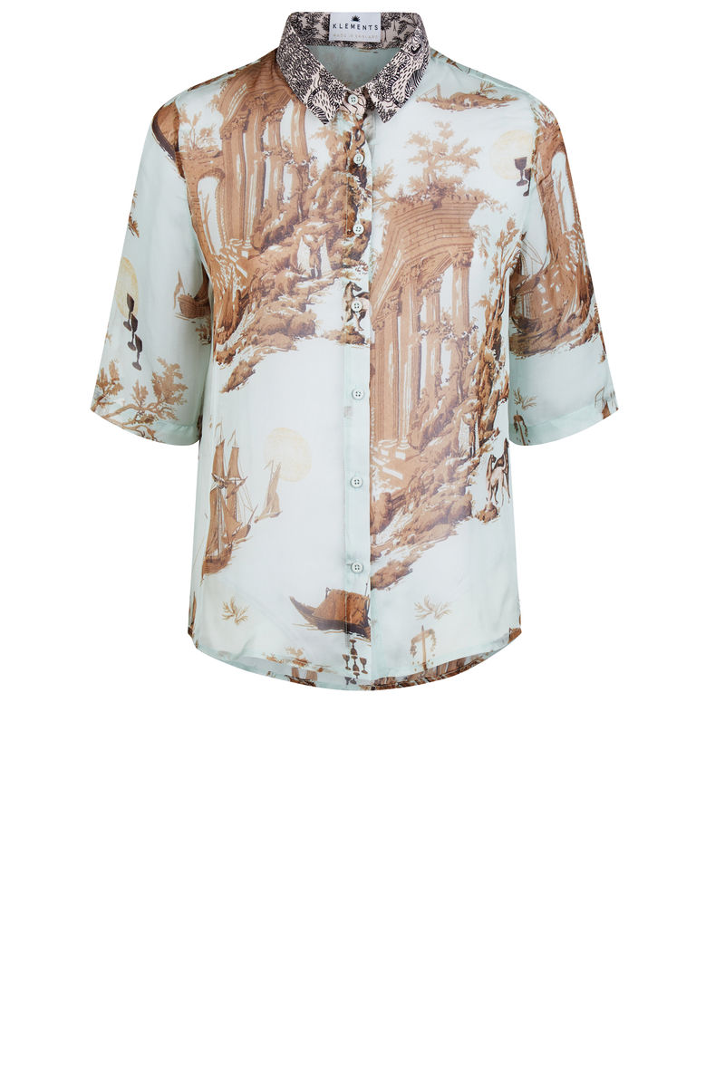 Mildred shirt in Cursed civilisation print - product images  of