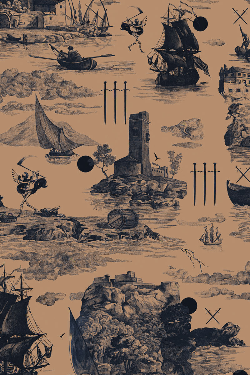 Somerleyton Dress Doomed Voyage print - product images  of