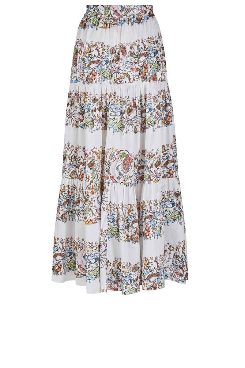 Somerleyton Prairie Skirt in Mermaid print - product images  of