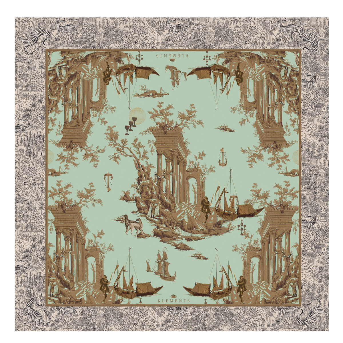 Large scarf in Cursed Civilisation print - product images  of