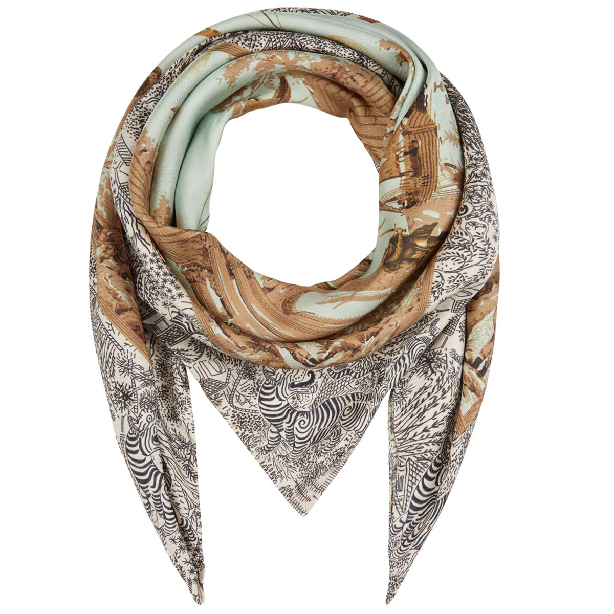 Medium scarf in Cursed Civilisation print - product images  of
