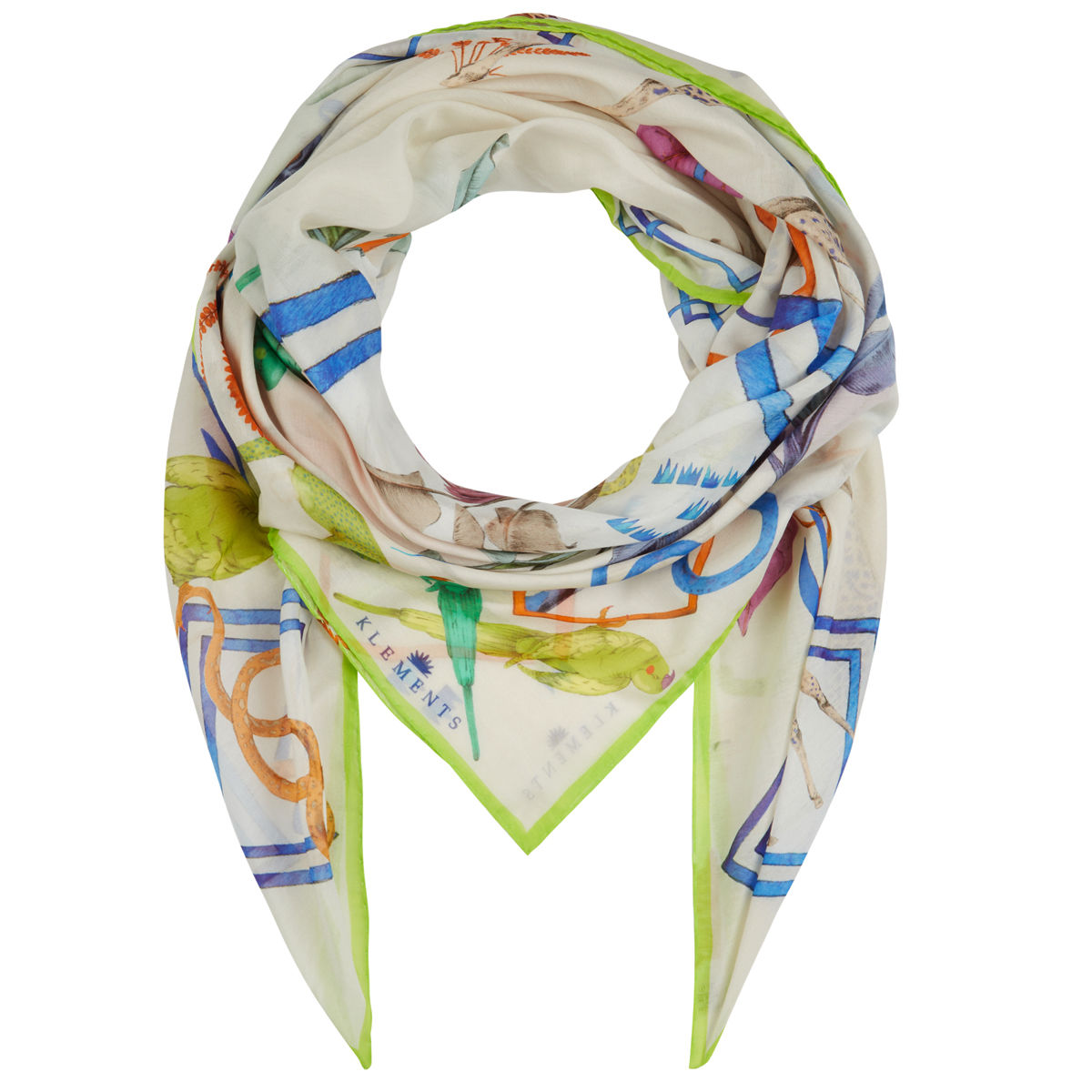 Large scarf in Jungle Sketchbook print - product images  of