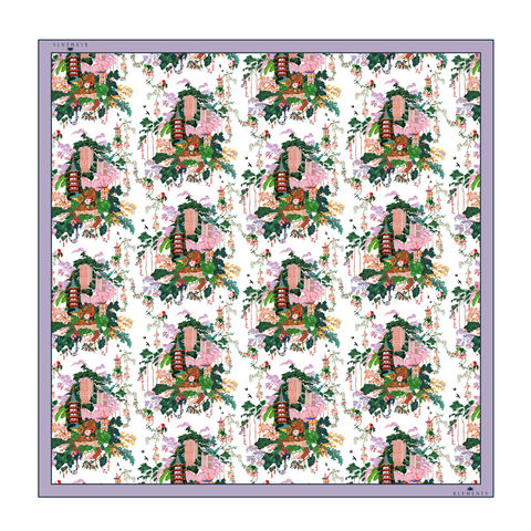 Large,scarf,in,Urban,Chinoiserie,(white),print