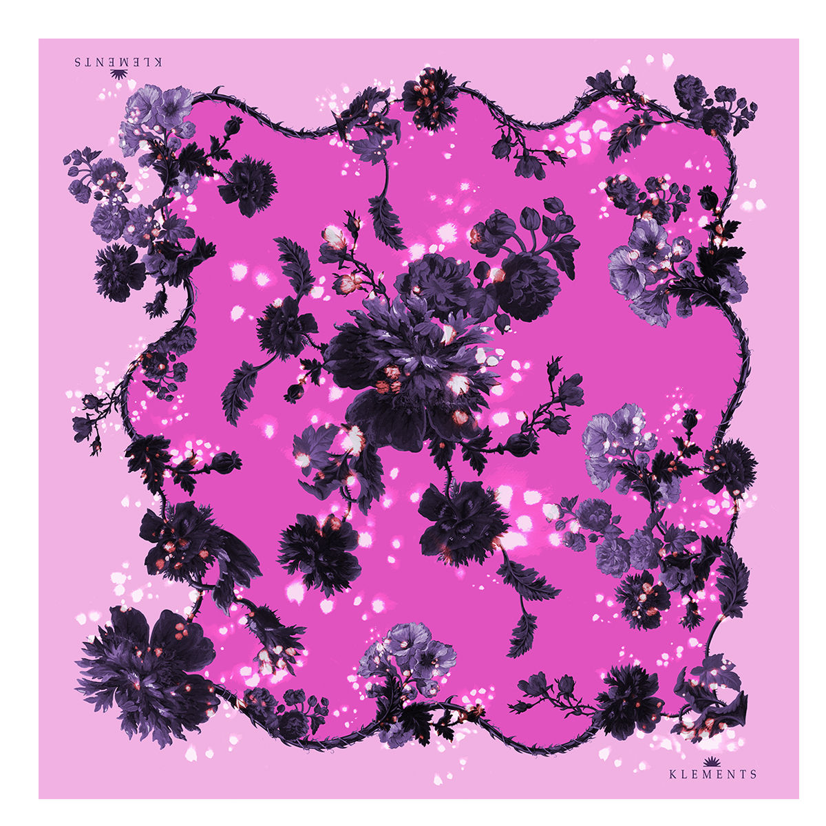 Large scarf in Gothic floral (sorbet) print - product images  of