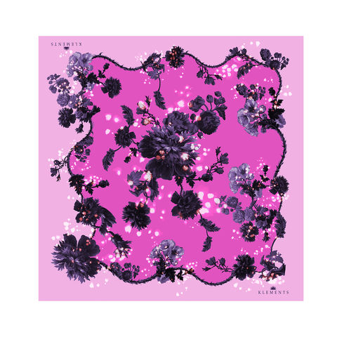 Medium,scarf,in,Gothic,floral,(sorbet),print