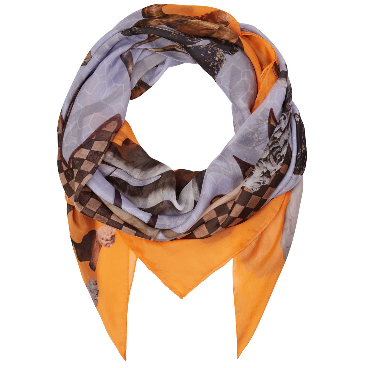 Large scarf in Guardians of Protection print - product images  of