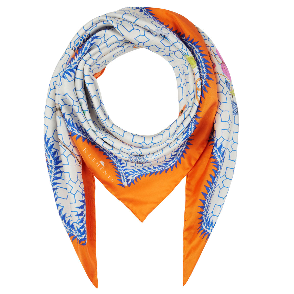 Medium scarf in Bamboo Jungle print - product images  of