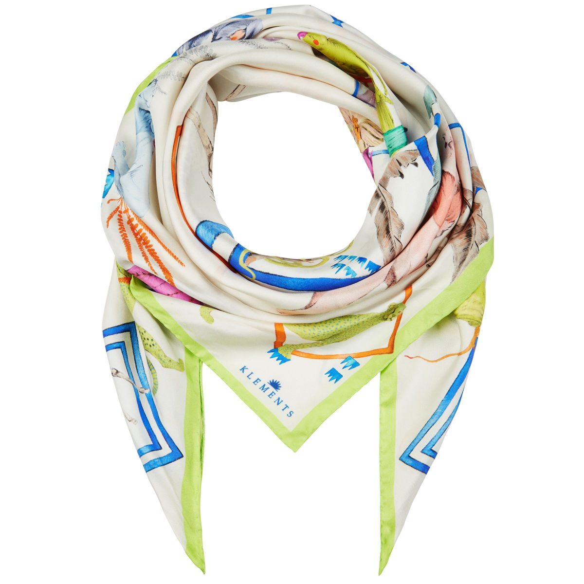 Medium scarf in Jungle Sketchbook print - product images  of