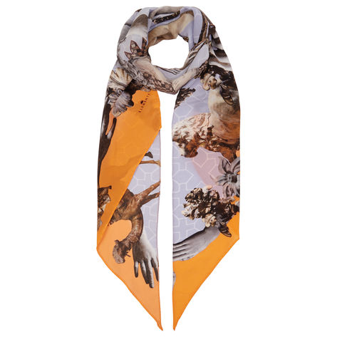 Razor,scarf,in,Guardians,of,protection,print