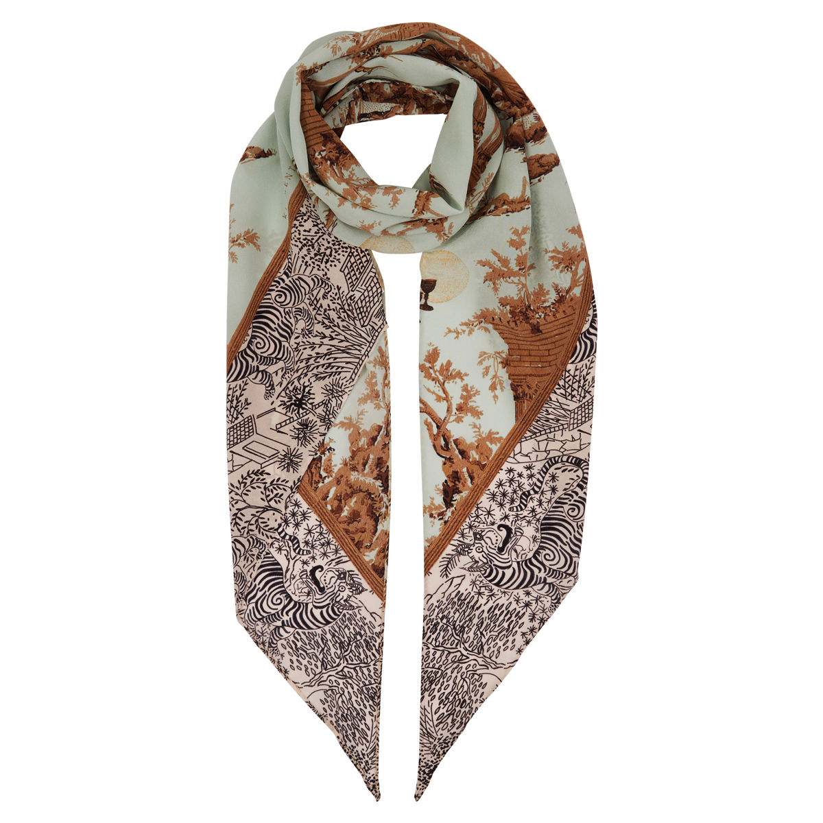 Razor scarf in Cursed Civilisation print - product image