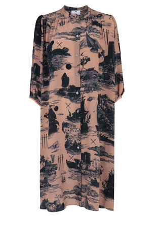 Scout,Dress,Doomed,Voyage,print,/,Silk,Cotton_printed_shirt_dress