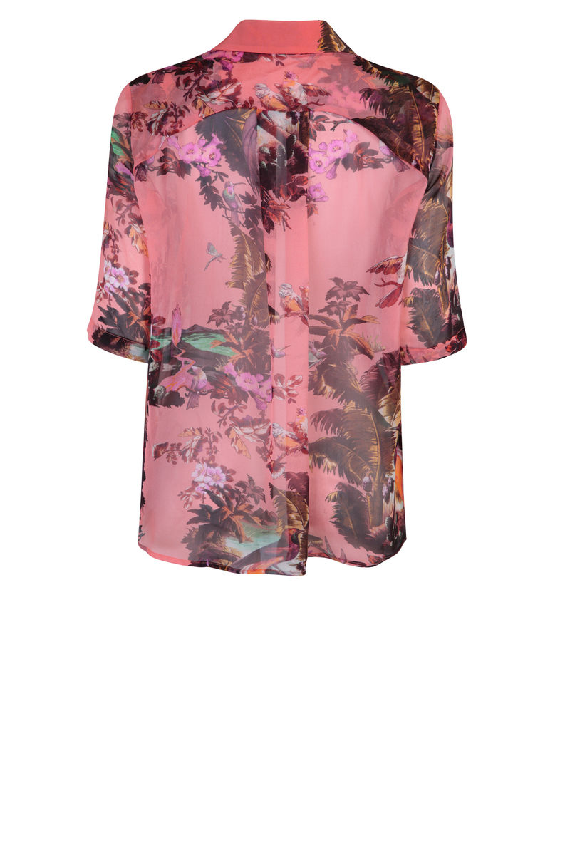 Mildred shirt in Volcano Hazed sunset print - product images  of