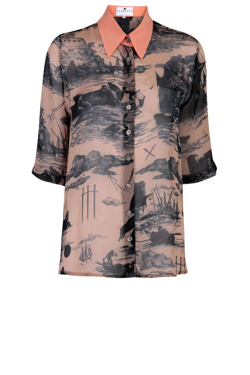 Mildred shirt in Doomed Voyage print - product images  of