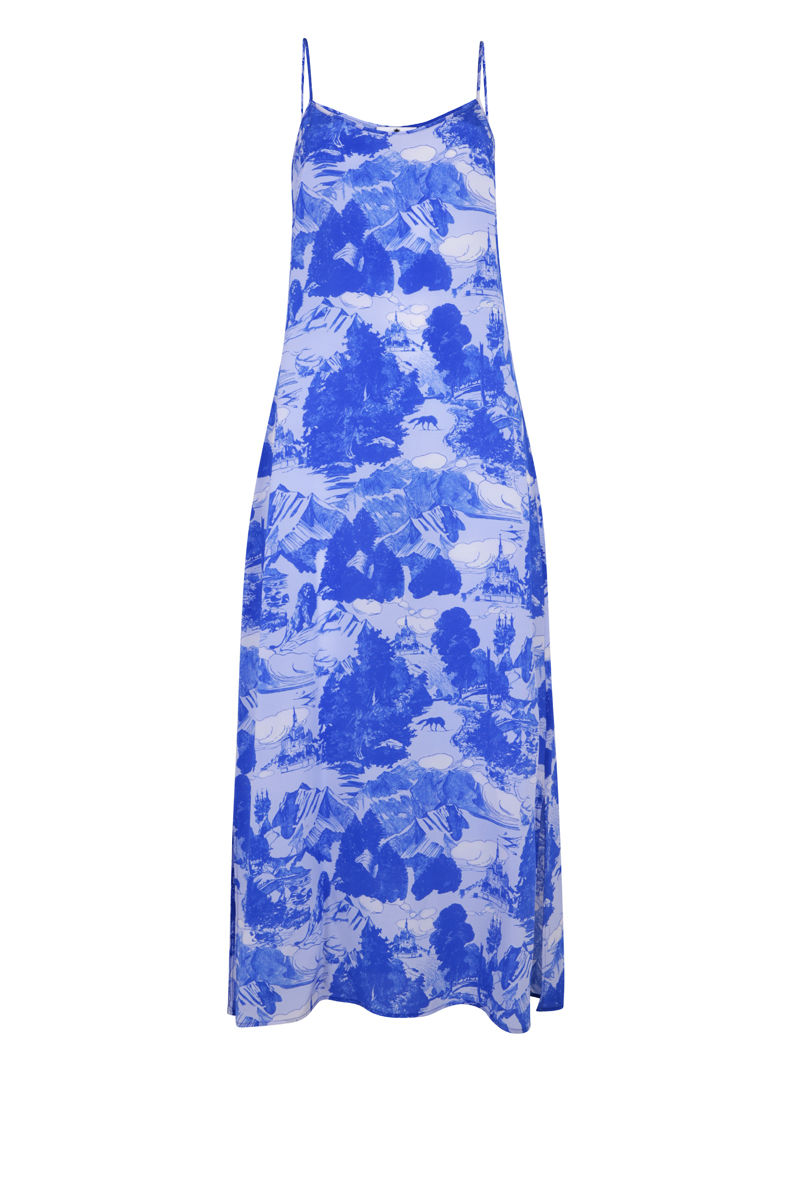 Dusk Slip Dress Le Mont Saint Michael Print - product images  of
