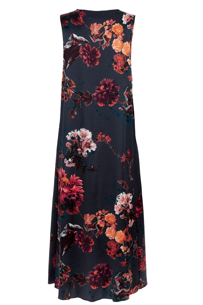 Patti Dress Gothic floral petrol  - product images  of