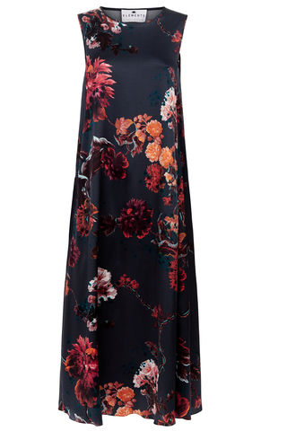 Patti,Dress,Gothic,floral,petrol,*online,exclusive*