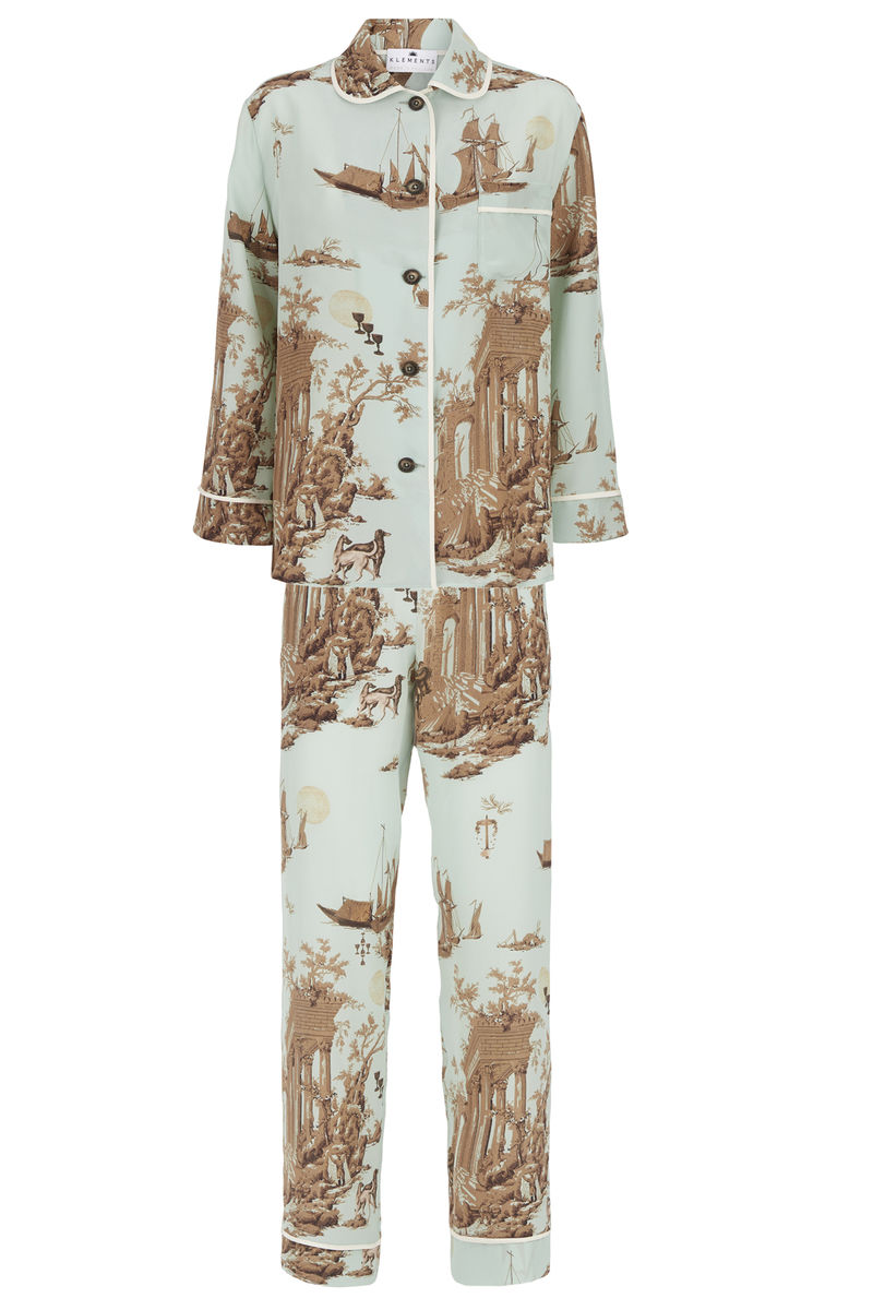 Tabatha Pyjama Set cursed civilisation print *online exclusive* - product images  of