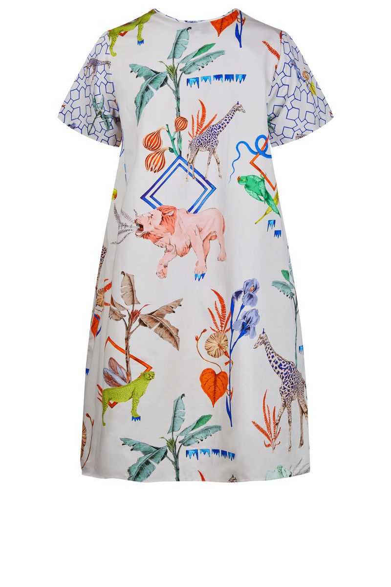 Frieda Dress Jungle Sketchbook Print / Silk - product images  of