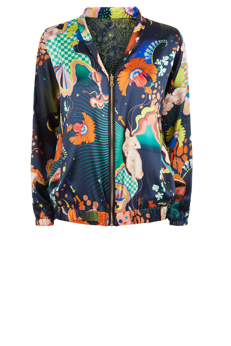 Penny Bomber (reversible) in Lucid & Abandoned village print - product images  of