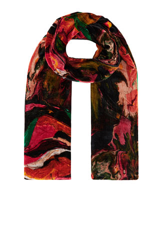 Large,Velvet,scarf,in,Plasticine,Print,rainbow_trout_silk_velvet_made_in_italy