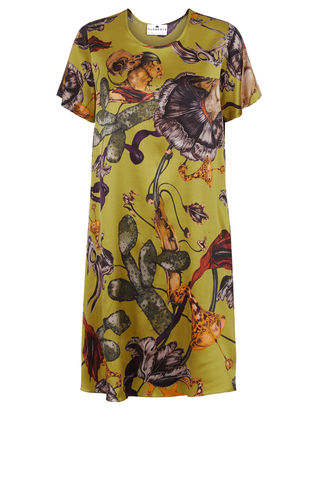 Frieda,Dress,in,Freaks,print,(Acid),shift dress wedding guest dress