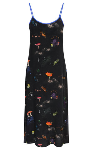 Dusk,Slip,Dress,Kosmos,print