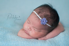 Newborn,Headband,,Baby,Girl,,Photo,Prop,BABY GIRL HEADBAND, CROCHET, NEWBORN HEADBAND